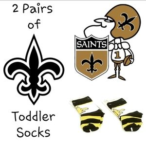 2 Pairs FBF Saints Rugby Block Socks for Toddlers